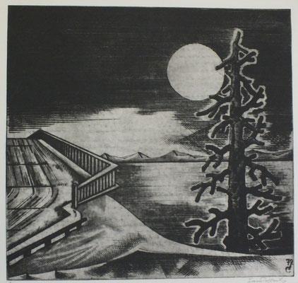 Abendlandschaft  1979  42 x 39,5