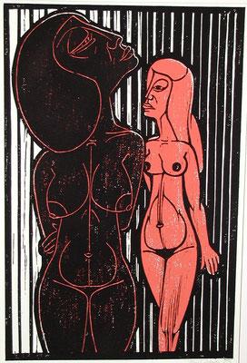 Freundinnen ( Eifersucht )  1983  39 x 60