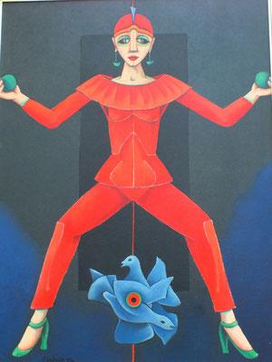 Tänzerin in Rot  1994  90 x 120