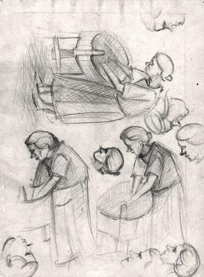 Küchenskizzen 1948