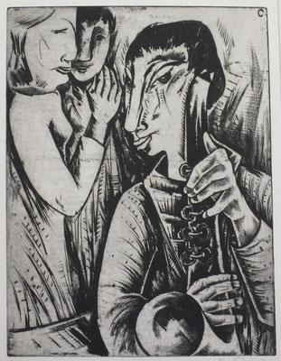 Saxophon Spieler  1964  29,5 x 39                 ( 4 )