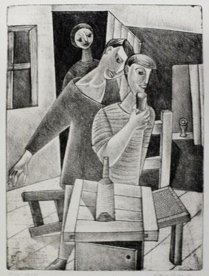 Trinkende  1957  23,5 x 32