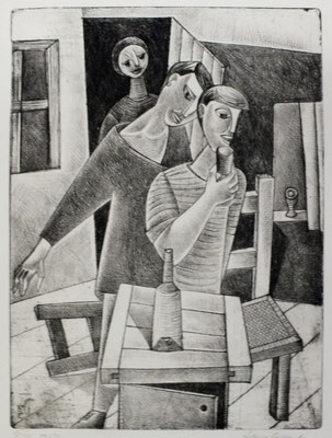 Trinkende  1957  23,5 x 32          ( 2 )