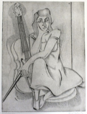 Cello Spielerin  1991  30 x 39,5