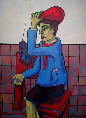 Junge mit roter Mütze  2005  75 x 100