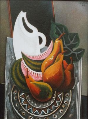 Stillleben mit weißer Vase  1973    75 x 100