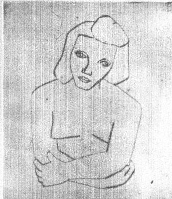 Hanna  1954    18 x 21  Eigentum Kunsthalle Bremen