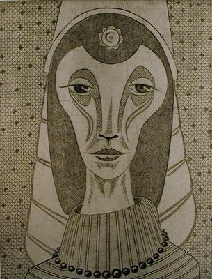 Junges Mädchen  1977  30 x 39 ( Ätz )