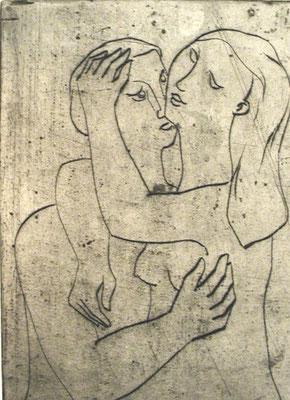 Junges Paar  1954  18,5 x 25,5