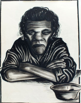 Mutter ( Johanne )  1947  36 x 45 ( Tusche )