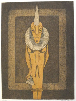Harlekin  1977  29,5 x 39,5 ( Ätz )