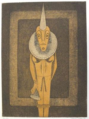 Harlekin  1977  29,5 x 39,5 ( Ätz )                  ( 1 )