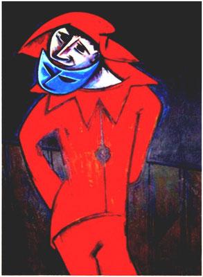 Roter Clown  1966    93 x 134