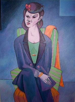 Dame im Kostüm  2004  75 x 100