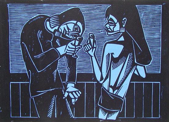 Nächtlicher Trunk  1982  56 x 42