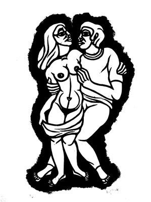 Junges Paar  1986  40 x 55