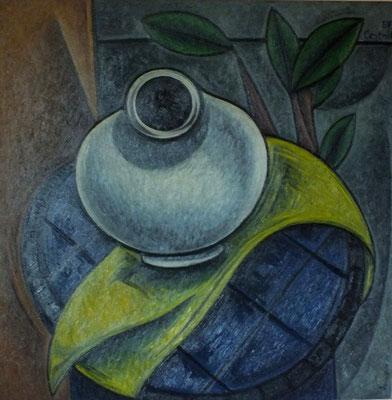 Stillleben mit weißer Vase  1957    68 x 68
