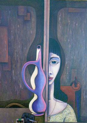 Frau mit Vase    84 x 114