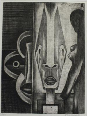 Masken  1971  29,5 x 39,5                      ( 1 )