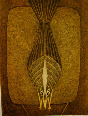 Vogel  1977  30 x 39,5 ( Ätz )