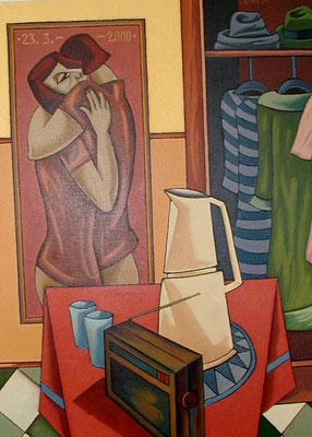 Großes Stillleben  2000  82 x 110