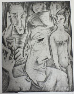 Atelierfest ( Gruppe II )  1967  38 x 50       ( 1 )