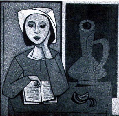Mädchen mit Krug  1954