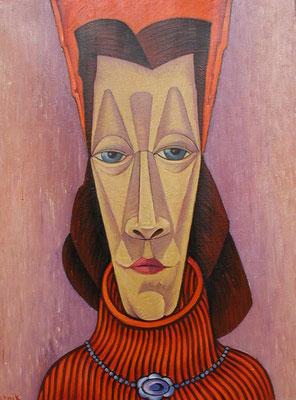 Frauenkopf  1998  62 x 81