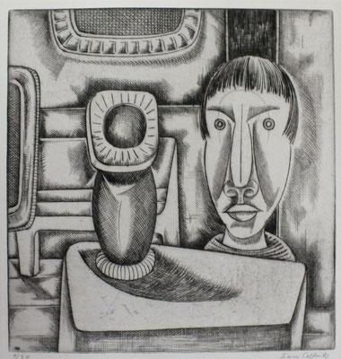 Junge mit Vase  1960  29,5 x 31
