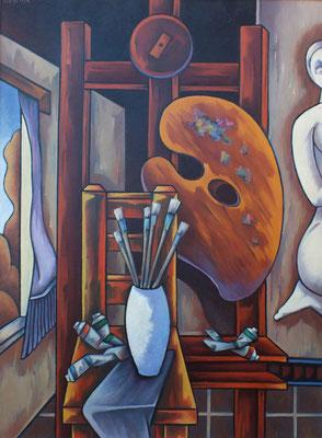 Stillleben mit Palette  1990  85 x 115