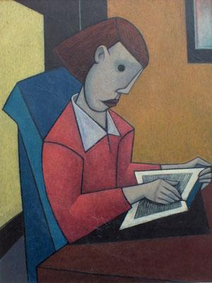 Mädchen mit Buch  80 x 105