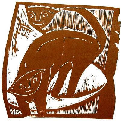 Katzen  1962  43 x 43