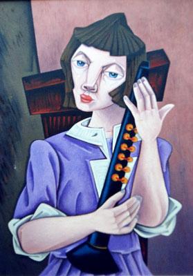 Mädchen mit Flöte