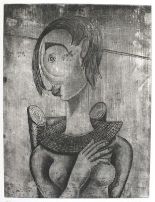 Artistin  1960  30 x 39,5           ( 2 )