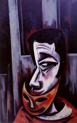 Mann mit Maske  1965    45 x 104