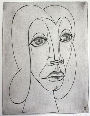Frauenkopf  1992  30 x 39,5