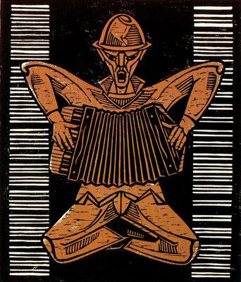 Akordeonspieler  1978    49,5 x 63,5