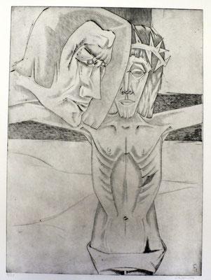Christus und der Schächer  1996  39,5 x 54,5