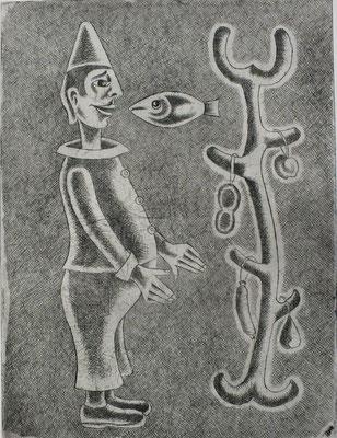 Der Wunderbaum  1985  29,5 x 39 ( Ätz )