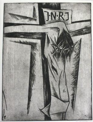 Gekreuzigter  1970  29,5 x 40                  ( 4 )