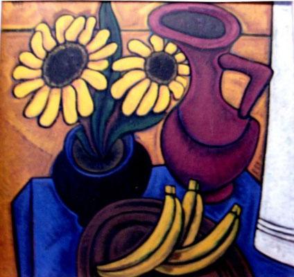 Stillleben mit Sonnenblume  1960