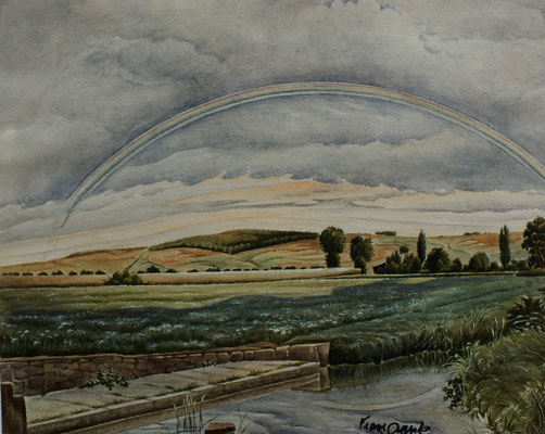Ölmühle Einbeck  1947  34,4 x 38 ( Aquarell )