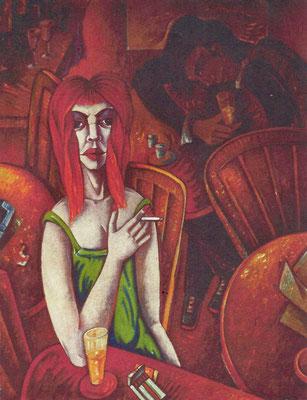 Bar mit rothaariger Frau  1973    106,5 x 135