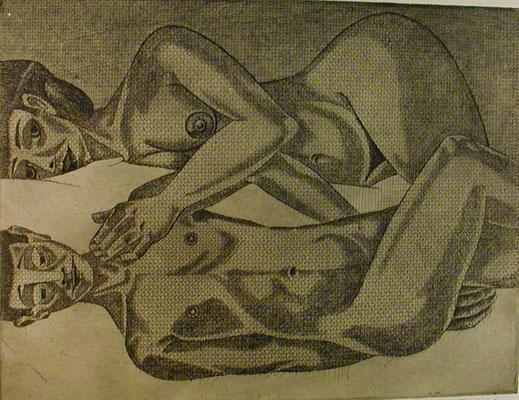 Paar II  1977  39,5 x 30