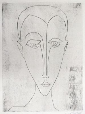 Jüngling  1957  23,5 x 31,7            Kahle Sammlung