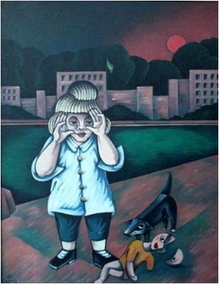 Kind mit Puppe  1985  84,5 x 110