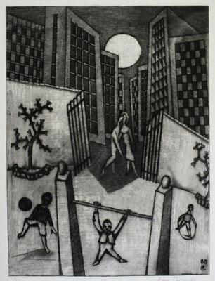 Spielplatz I  1978  30 x 40           ( 1 )