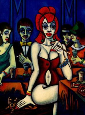 Frau mit rotem Haar  1999