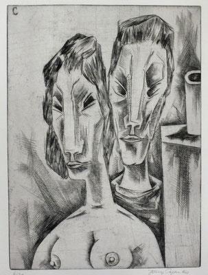 Im Atelier I  1962  29,5 x 40