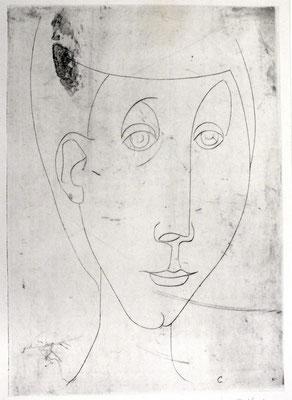 Mädchenkopf  1957  24,8 x 34,7